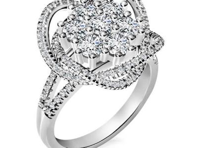 טבעת יהלומים מרשימה