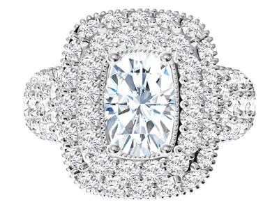 טבעת יהלומים יוקרתית