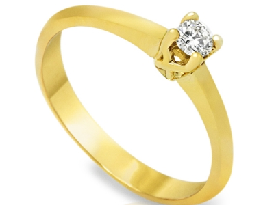 UNIVERSE 0.10 CARAT קראט, טבעת מתנה טבעת אירוסין זולה, זהב צהוב