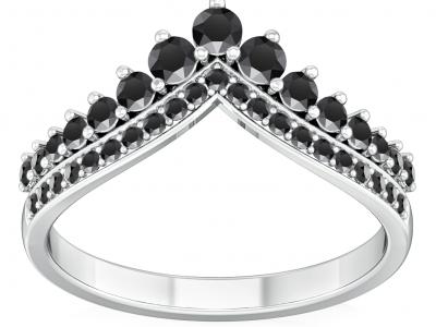 תכשיטי יהלומים שחורים לאישה