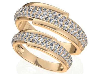 טבעות נישואין יהלומים