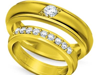 טבעות נישואין עם יהלומים
