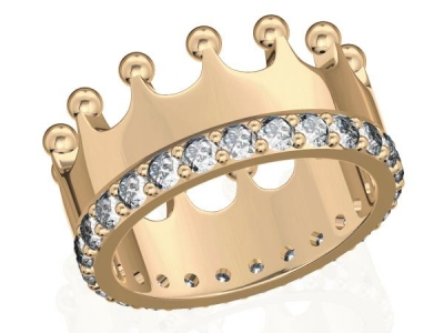 טבעת כתר יהלומים