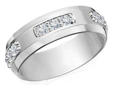 טבעת יהלומים לגבר