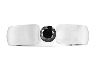 טבעת יהלום שחור לאישה