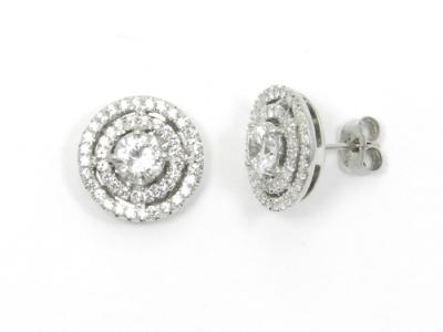 עגילי יהלומים צמודים לאוזן 1 קראט