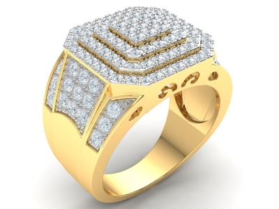 טבעת זהב מרשימה לגבר