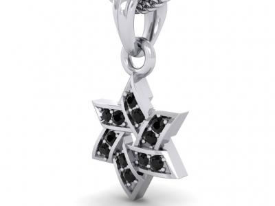 תליוני מגן דוד יהלומים שחורים