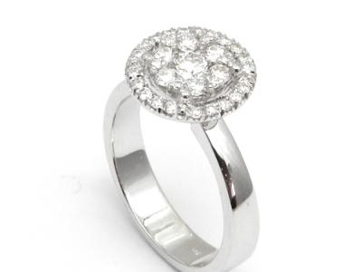 טבעת יהלום קראט עם שיבוץ כוכב מיוחד