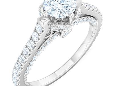 טבעות יהלומים בעיצוב וינטג'