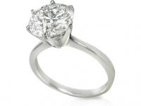 טבעת אירוסין יהלום 1קרט