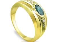 טבעת אבני חן, אמרלד ברקת ירוקה
