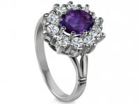 טבעת וינטז טבעות דיאנה אבן סגולה מסביב יהלומים