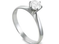 טבעת יהלום סוליטר קלאסית רבע קראט