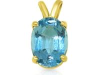 תליון אבן ספיר כחול