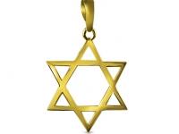שרשרת מגן דויד זהב לגבר