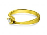 טבעות אירוסין זהב צהוב יהלום קטן