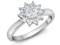 טבעות אירוסין בצורת פרח יהלומים