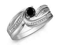 טבעות אירוסין מיוחדות יהלום שחור
