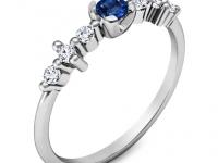 טבעת יהלומים ואבן חן ספיר