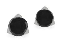 עגילים יהלום שחור