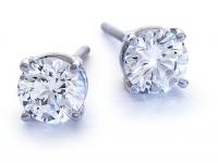 עגילים סוליטר יהלומים