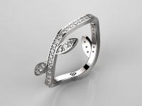 טבעת זהב ואבן חן אמרלד ברקת