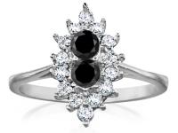 טבעות יהלומים מעוצבות יהלום שחור
