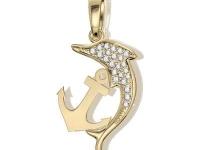 תליון זהב דולפין