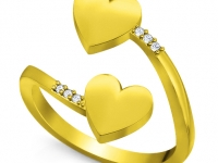 טבעות זהב ויהלומים לב