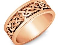 טבעת זהב מעוצבות לגבר