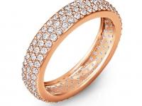 טבעת יהלומים זהב אדום