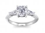 טבעת אירוסין יוקרתית- 1 קראט מרכזית