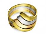 טבעת זהב מעוצבת טבעת שלושה צבעים של זהב
