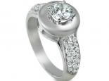 טבעת מעוצבת טבעת מיוחדת ומרשימה עם יהלום חצי קארט