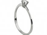 טבעת יהלום סוליטר עדינה במיוחד