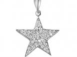 תליון זהב בצורת כוכב משובץ בשטיח יהלומים