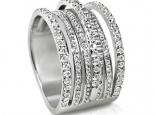 טבעת מעוצבת זהב ויהלומים קטנים