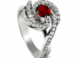 טבעת סוליטר מעוצבת בעיצוב מיוחד משובצת באבן חן מרכזית חצי קארט אמרלס ברקת ספיר רובי לבחירה