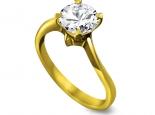 טבעת יהלום 1קארט בעיצוב מיוחד זהב צהוב