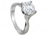טבעת סוליטר מעוצבת יהלום קארט וחצי 150 נקודות