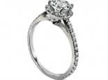 טבעות אירוסין משובצות טבעת יהלומים קלאסית