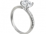"""טבעת אירוסין עם יהלום חצי קראט! בשיבוץ 16 יהלומים קטנים - """"UNIVERSE"""""""