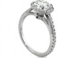 טבעת אירוסין יהלומים וזהב בעיצוב מיוחד 3/4 קארט יהלום