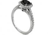 טבעת אירוסין יהלומים וזהב בעיצוב מיוחד יהלום שחור