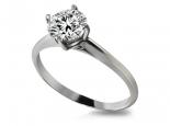 טבעת יהלום עדינה קלאסית