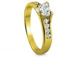 טבעת יהלום לב או עגול חצי קארט