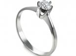 טבעת יהלום בעיצוב עדין טבעת אירוסין סוליטר קלאסית