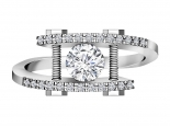 טבעת בעיצוב מודרני מיוחד