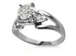טבעת אירוסין סוליטר יהלום חצי קארט זהב לבן